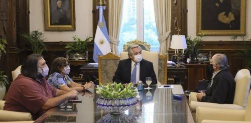 Reunión de CTERA con el Presidente Fernández