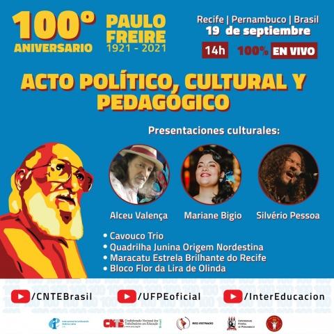 Acto Político Pedagógico Paulo Freire 100