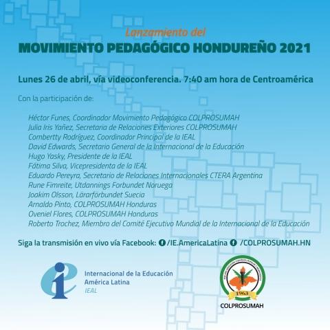 Invitación Movimiento Pedagógico Hondureño 2021