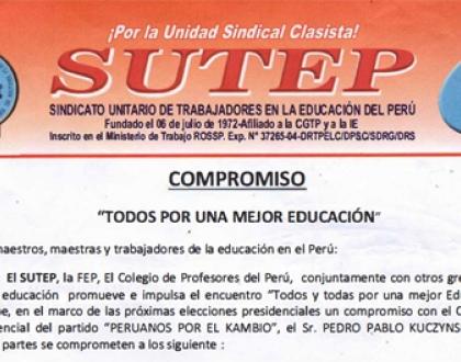 Perú: Todos y todas por una mejor educación