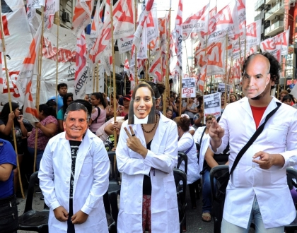 Protesta CTERA