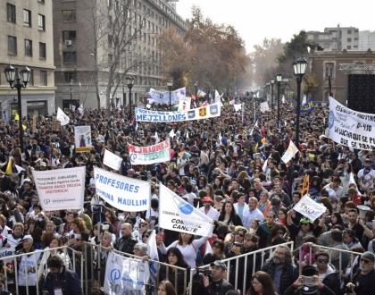 Movilización del Colegio de Profesores en Santiago