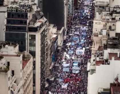 Movilización contra golpe de Estado en Bolivia