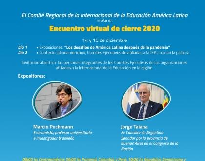 Invitación Encuentro cierre 2020