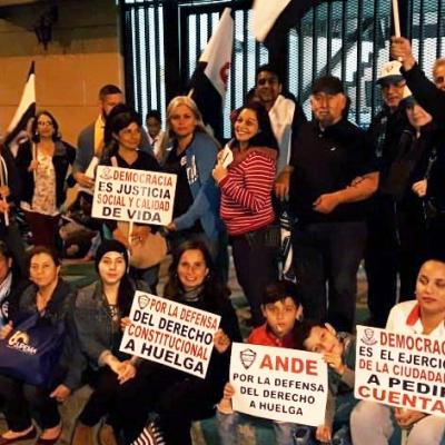 Derecho a huelga ANDE