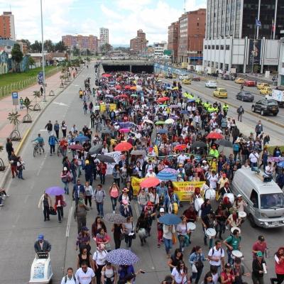 Movilización en Bogotá