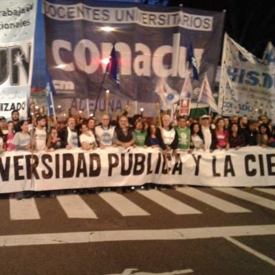 Marcha de las Antorchas CONADU