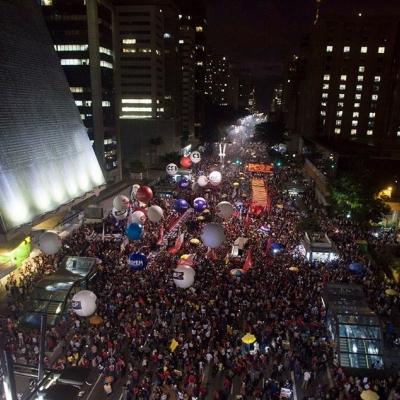 Huelga Nacional en Brasil: movilización en Sao Paulo