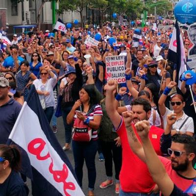 Huelga de ANDE en Costa Rica