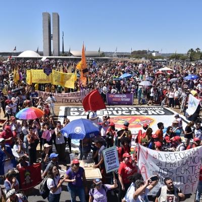 Movilización en Brasilia