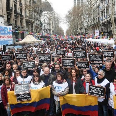 Movilización docente en Argentina