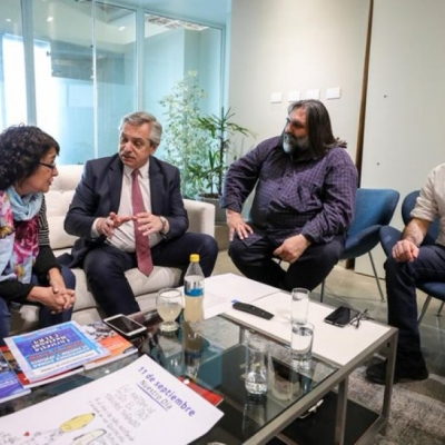 Reunión de CTERA con Alberto Fernández