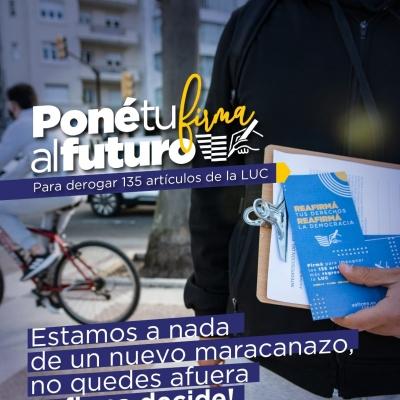 Campaña por referendum de la LUC en Uruguay