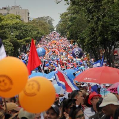 Marcha contra combo fiscal en Costa Rica